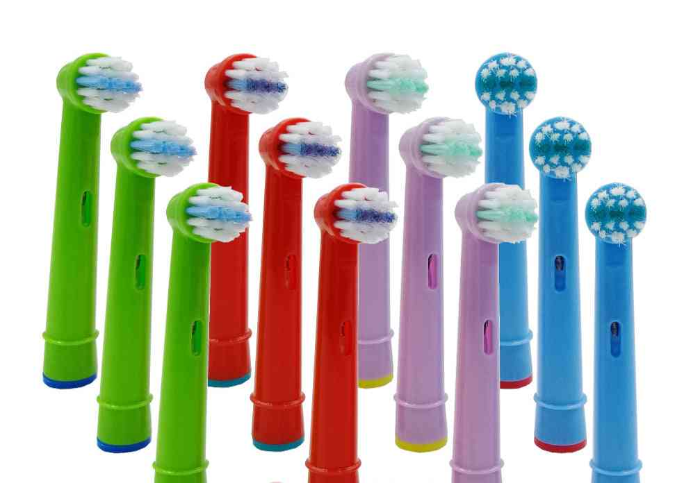 Replacement Kids Tooth Brush Heads For Oral B Eb-10a Pro-health Stages Electric Toothbrush