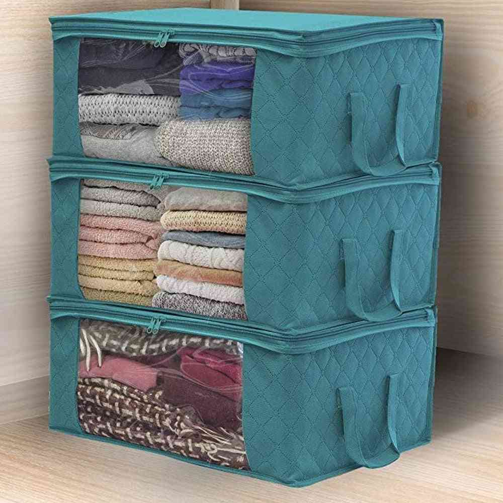 Non-woven Fabric, Folding Dirty Clothes, Collecting Case, Storage Box With Zipper Handles