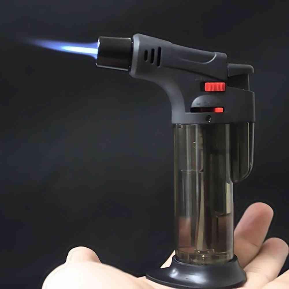 Transparent Body Design Refillable Adjustable Butane Jet Torch, Lighter, Bbq Tools