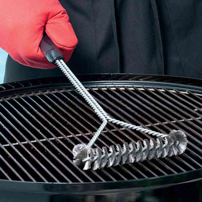 Barbecue Grill Bbq Brush Clean Tool Grill Accessories Stainless Steel Bristles Non-stick Accessories (a)