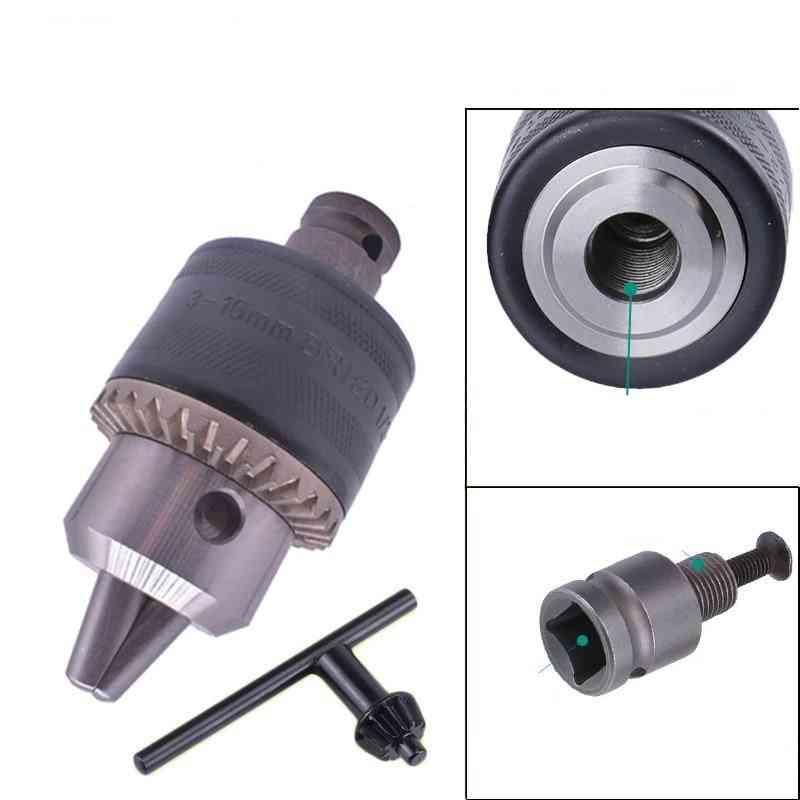 Drill Chuck & Drill-chuck Adapter Convert Impact Wrench