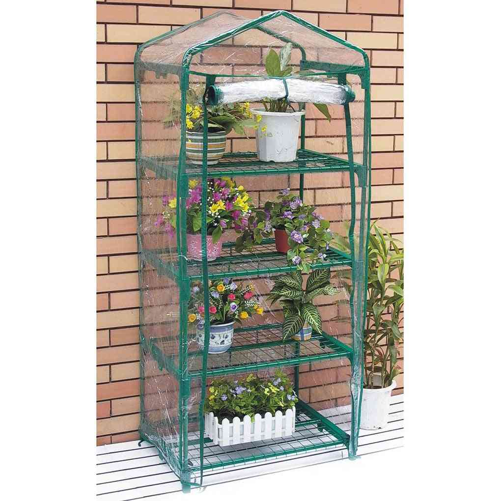 Garden Greenhouse Cover Plant Flower Growth House Heat Retaining Transparent Pvc Waterproof
