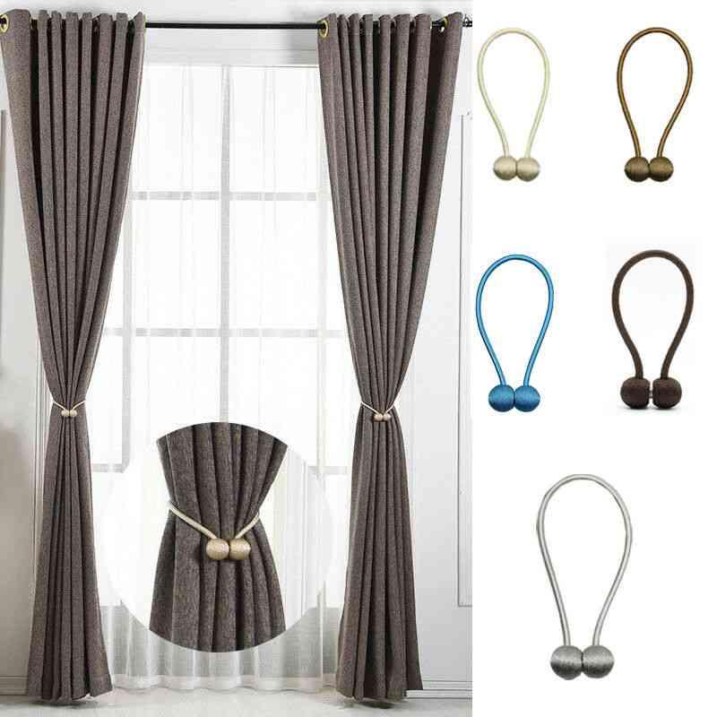 Curtain Buckles Newest Magnetic Pearl Ball Tiebacks Backs Holdbacks Clips Decorative Accessories