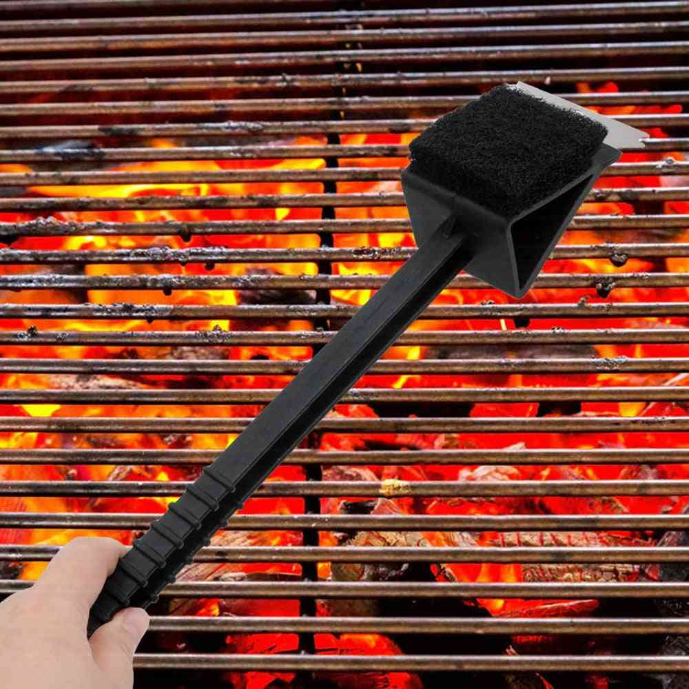 3 In 1 Bbq Long Handle Barbecue Cleaning Brush