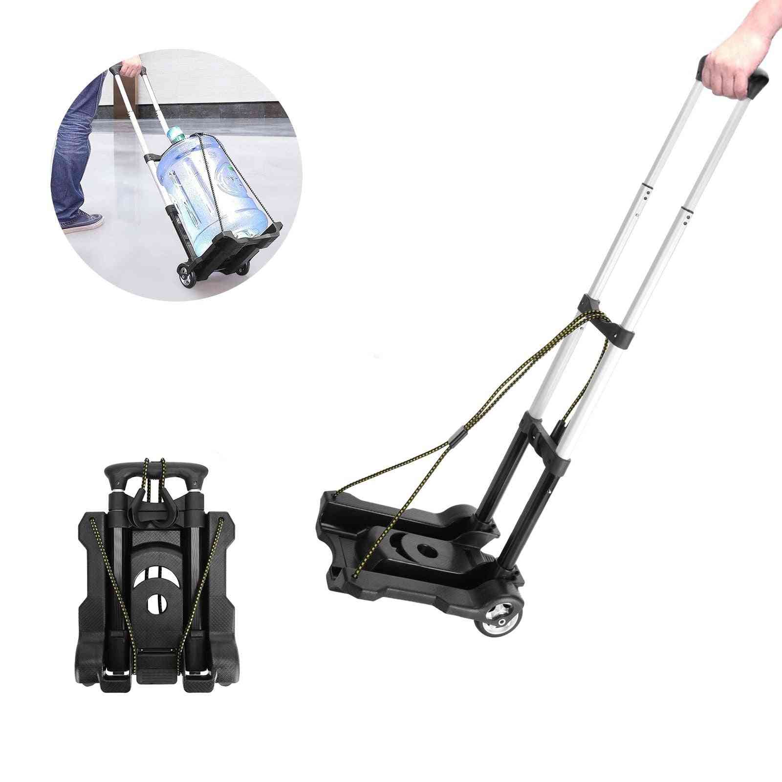 Foldable Folding Trolley, Aluminum&plastic Lightweight Travel, Shopping