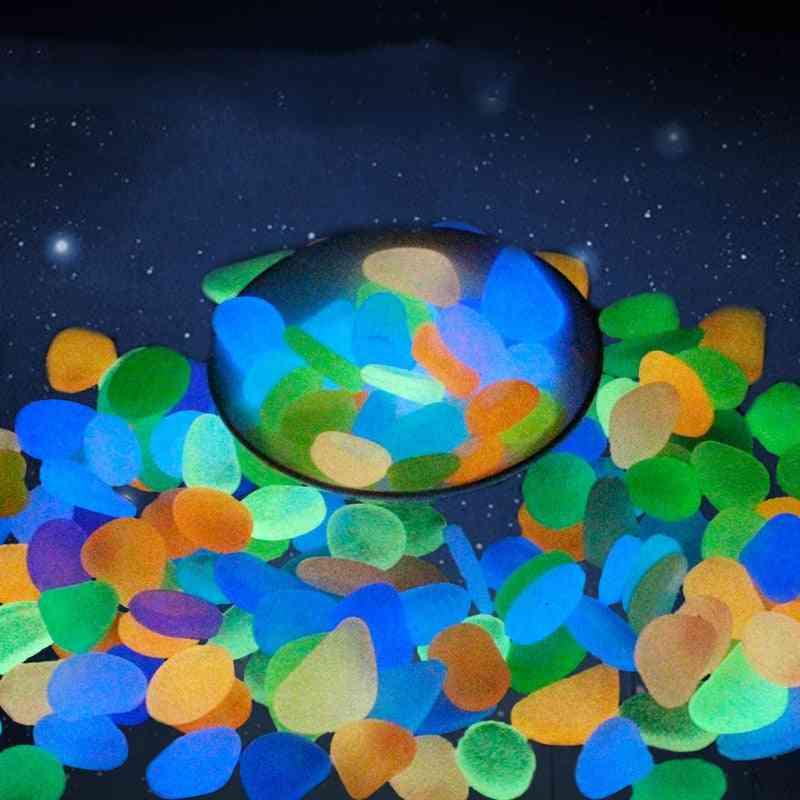 Glow Pebbles Luminous Stone, Fish Tank Garden Decoration