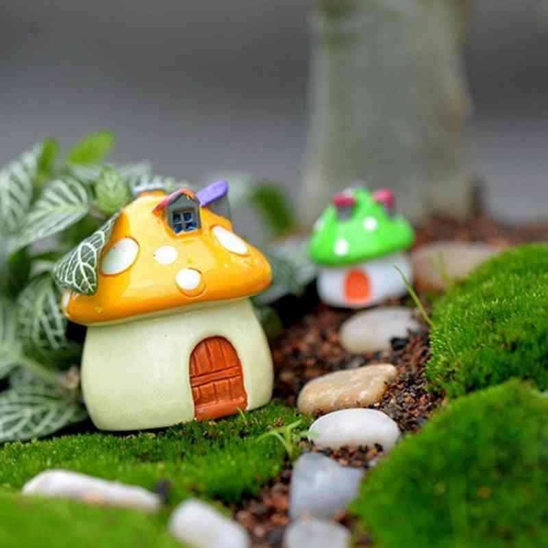 Garden Ornament Mushroom House Resin Figurine
