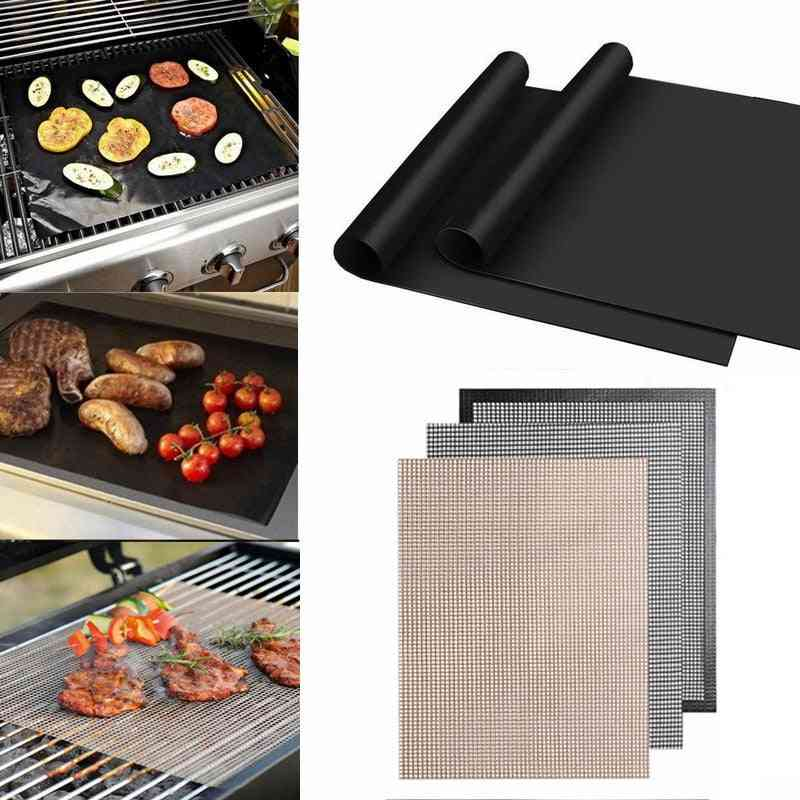 Non-stick Bbq Grill Mat Barbecue Baking Liners Reusable