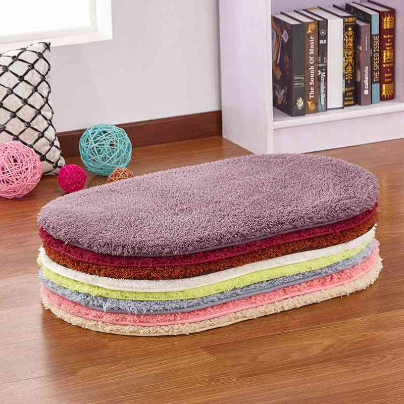 Soft Water Absorption Bath Mats, Toilet Floor Absorbent Thick Carpets