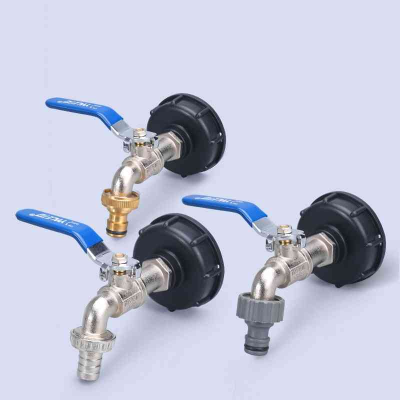 Durable Ibc Tank Tap Adapter, Thread Connector, Replacement Valve Fitting