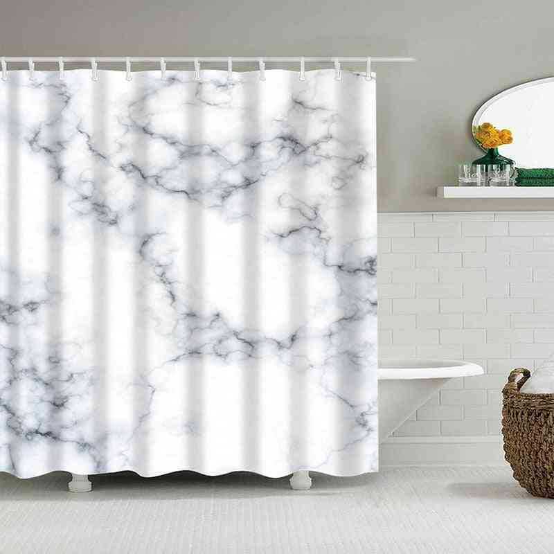 Waterproof Polyester, Marble Stripes, Printing Shower Curtains Fabric