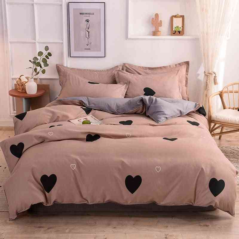 Single Double Queen Size Pillowcase Duvet Cover, Bed Sheet Quilt Cover