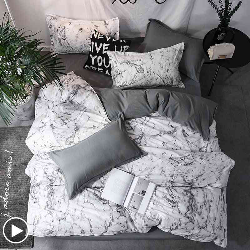 Marble Geometric Duvet Cover Sets With Pillowcase Quilt Cover