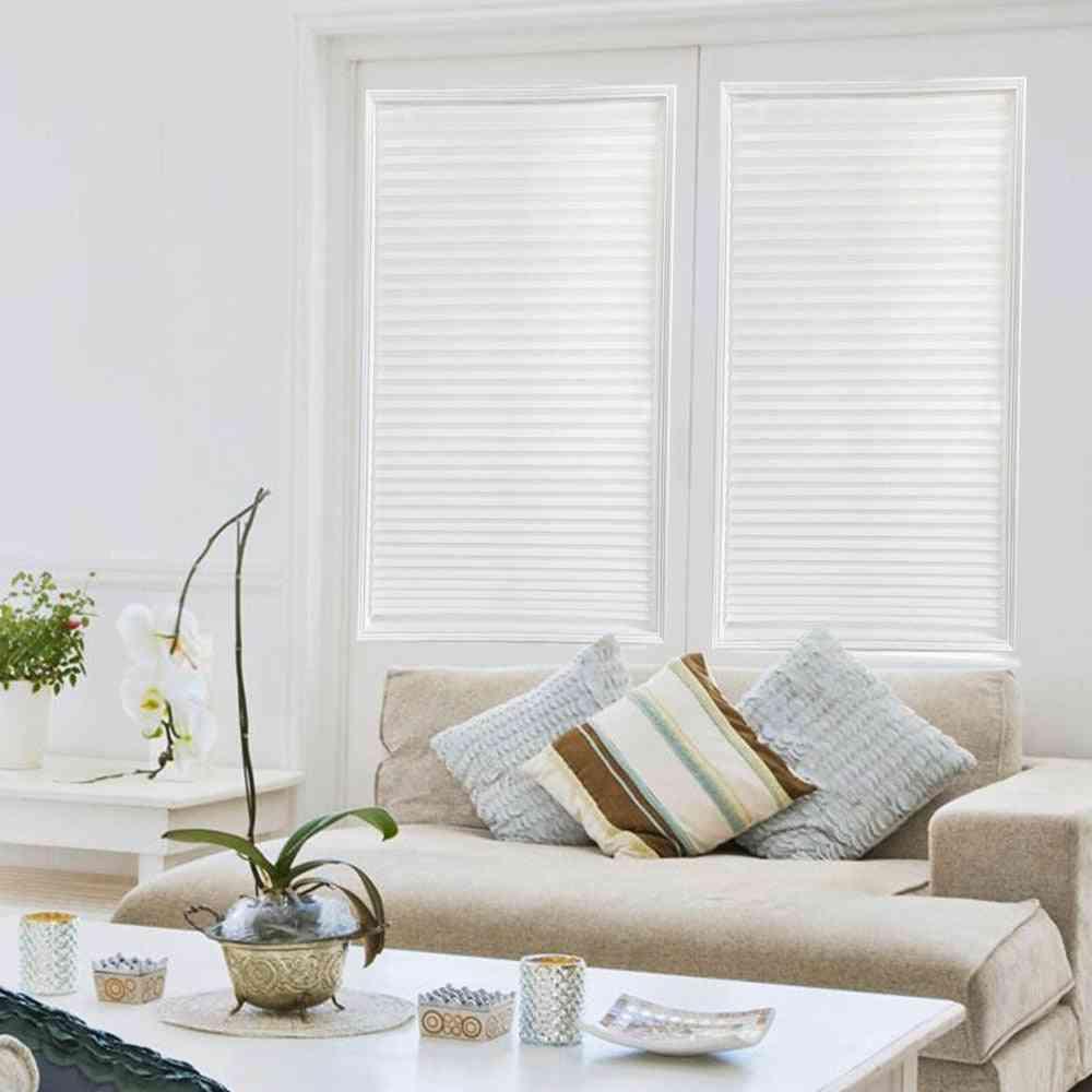 Self-adhesive Window Blinds, Half Blackout Curtains For Bathroom, Balcony Decor