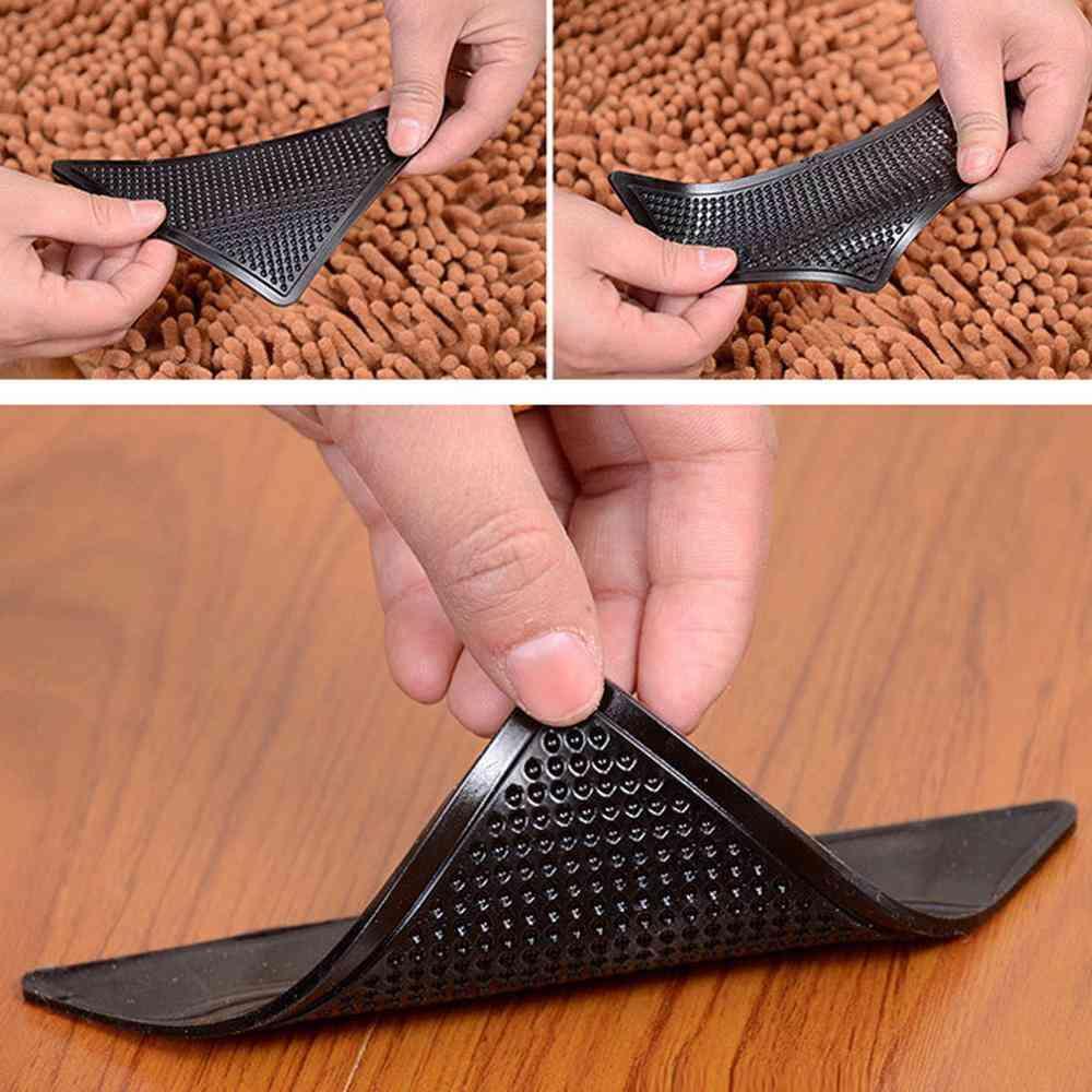4pcs/lot Triangle Reusable Anti-skid Rubber Mat Non Slip Patch Mat