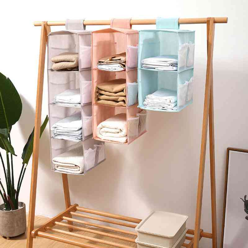 Tidy Layer, Hanger Hanging Wardrobe, Shelf Clothes Bag, Storage Box