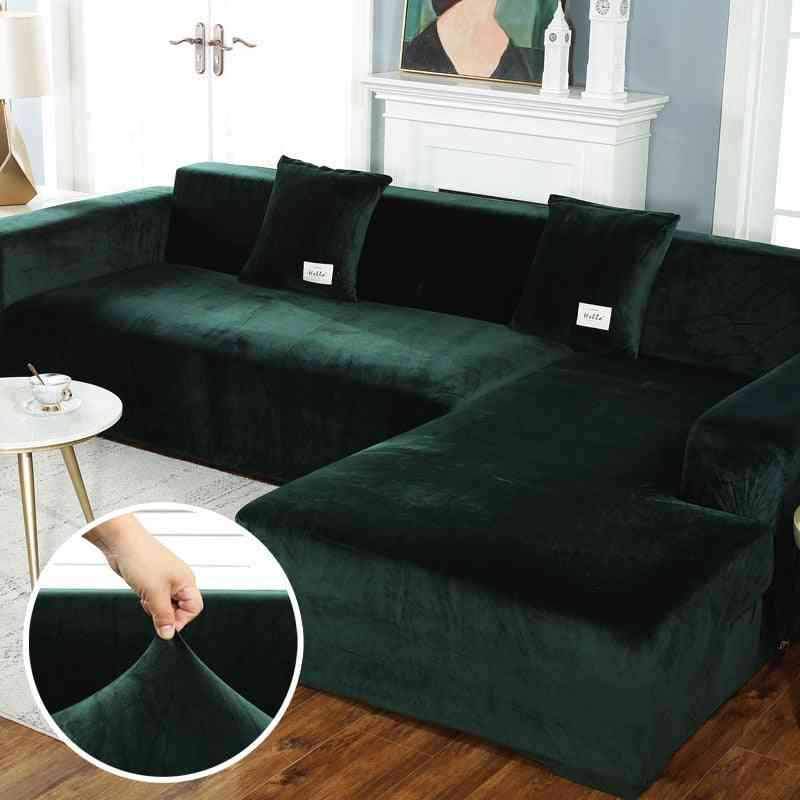 Plush Sofa Elastic Leather Corner Sectional For Living Room Couch Covers Set