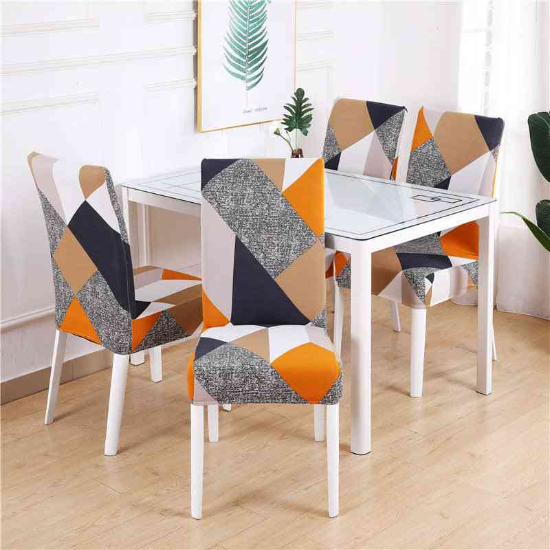 Geometry Pattern, Elastic Stretch Chair Covers