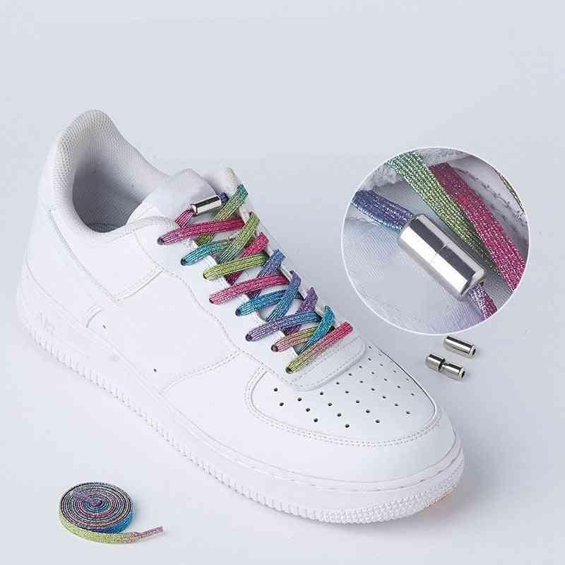 Elastic Locking, Flats No-tie Sneakers Locking, Shoe Laces Strings