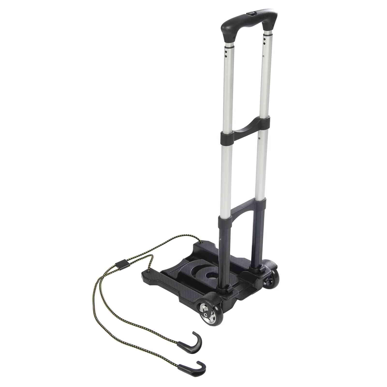 Foldable Shopping Cart- Travel Luggage, Large Trolley (black)