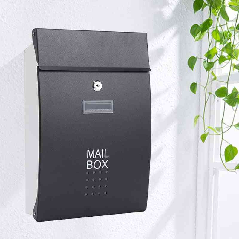 Wall Mounted Stainless Steel Mailbox Outdoor Warehouse Apartment Home Garden Letterbox