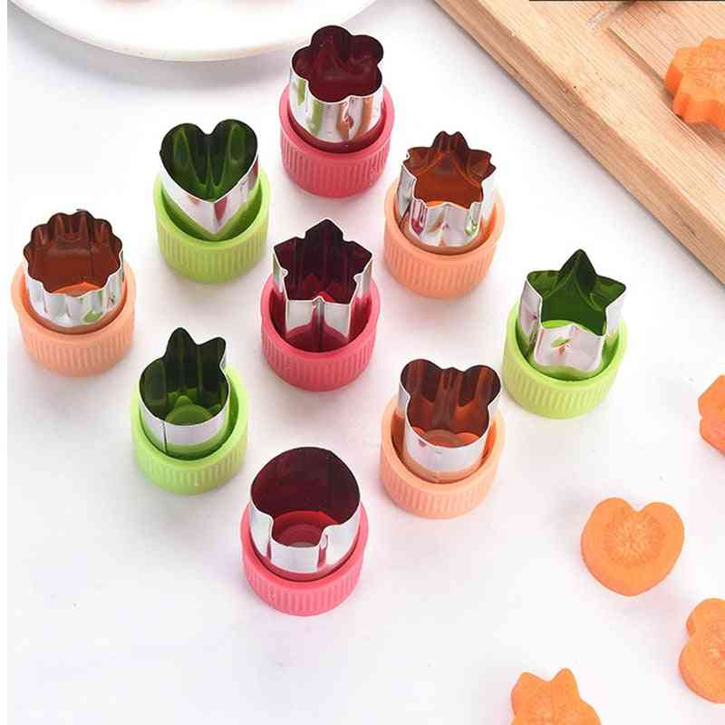 Stainless Steel- Star/ Heart Shape, Vegetables Cutter, Plastic Handle Kitchen Gadgets Tools