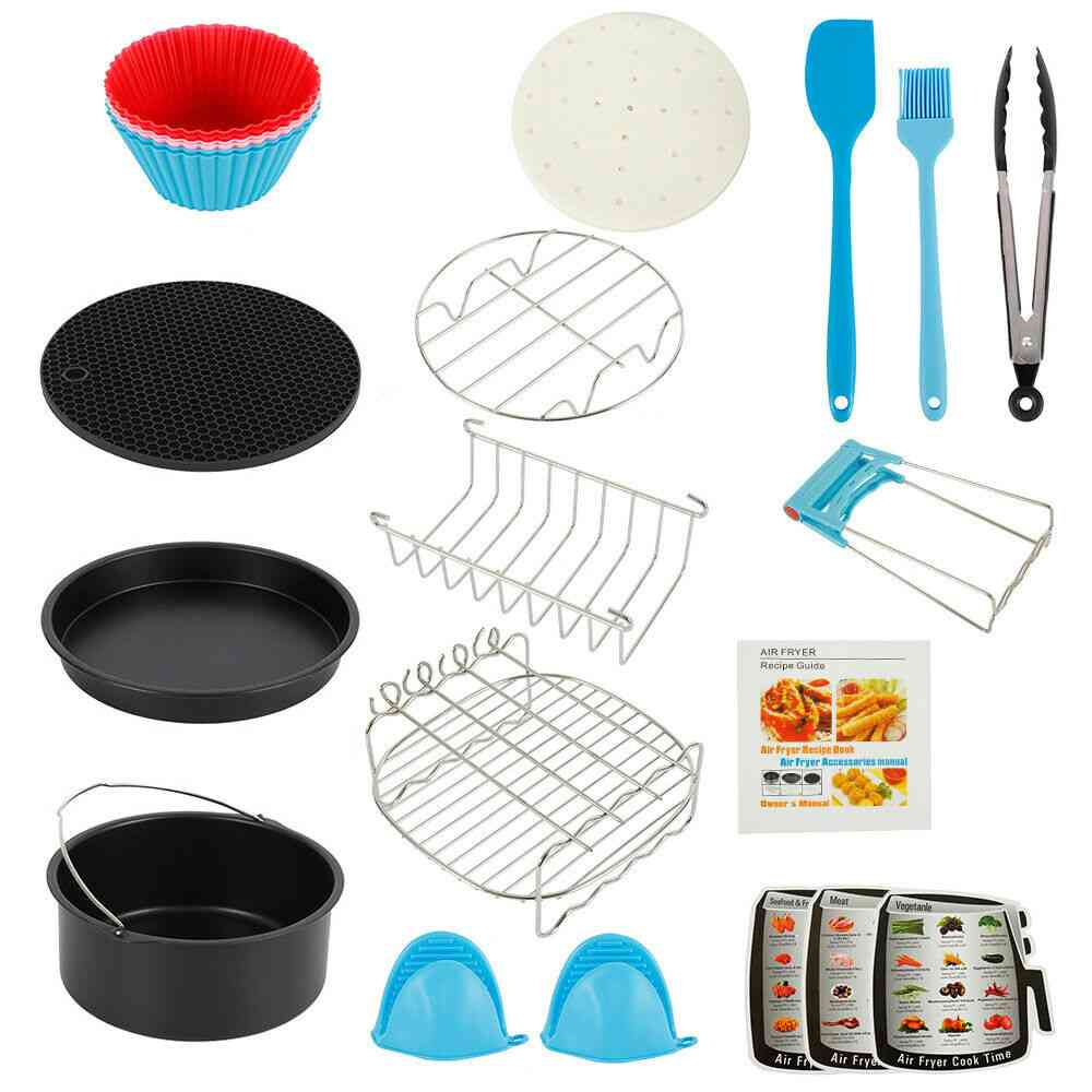 7/8 Inch Fit For Air Fryer 4.8qt-6.3qt Baking Basket Pizza Plate And Grill Pot Kitchen Cooking Tool