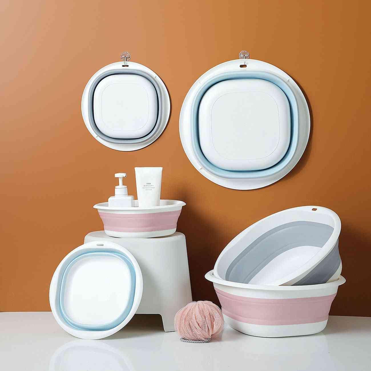 Household Folding Wash Basin Portable Sink Foot Bucket