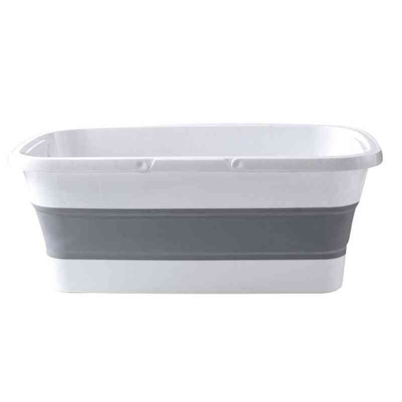 Hot-foldable Mop Bucket Collapsible Portable Wash Basin Dishpan With Handle