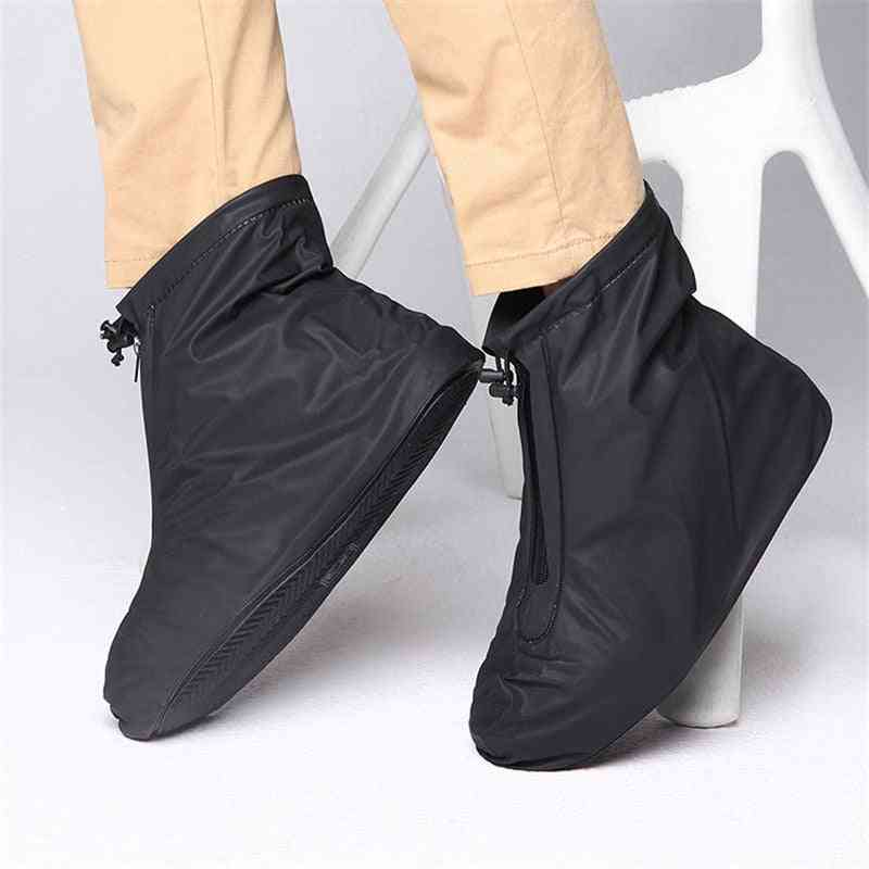 Rain Flats Ankle Boots Pvc Reusable Non-slip Cover For Shoes