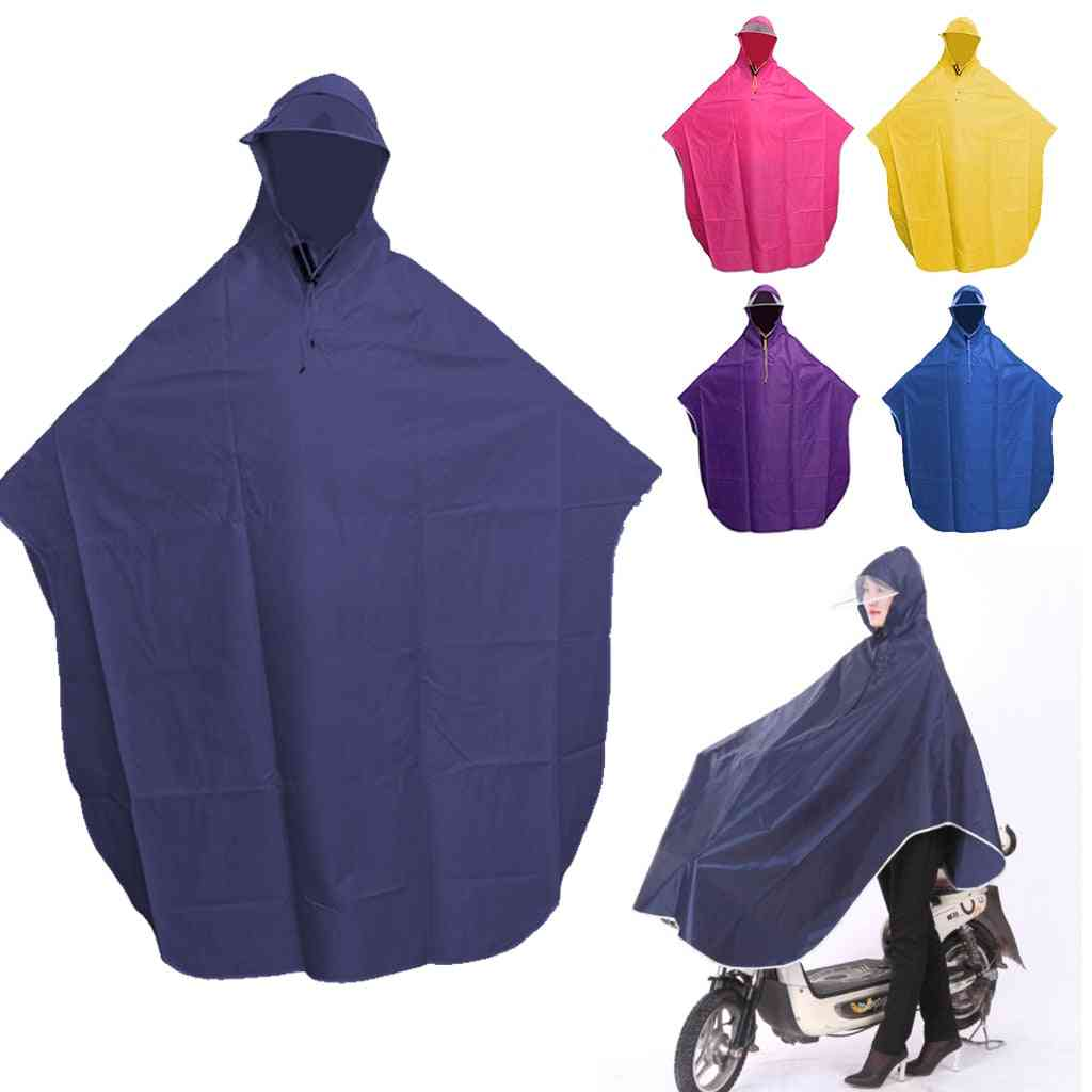 Cycling  Motorcycle Poncho Hooded Windproof Raincoat
