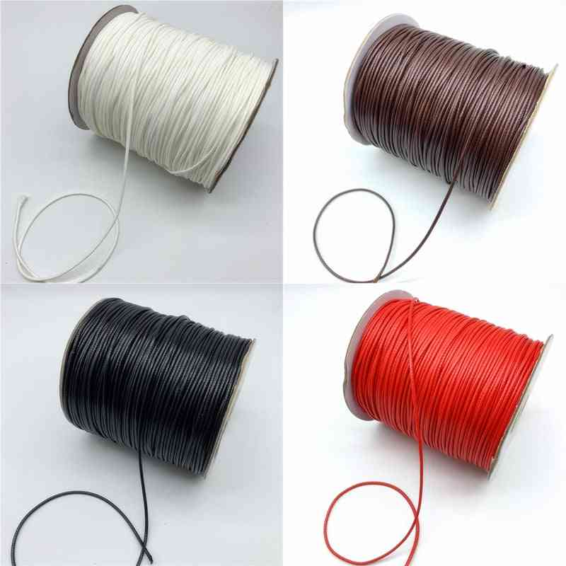 Waxed Cotton Cord Rope Thread String Strap Necklace For Jewelry Making