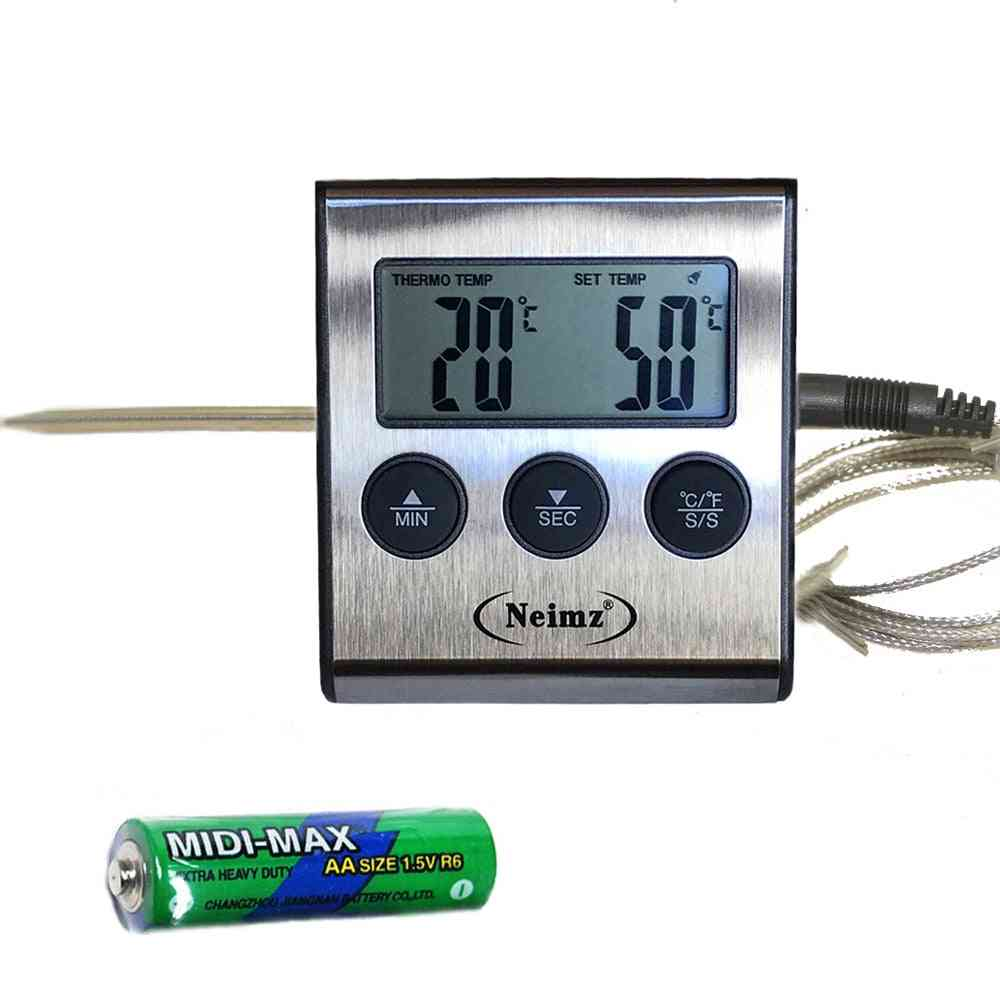 Food Cooking Grilling Meat Bbq Thermometer And Timer