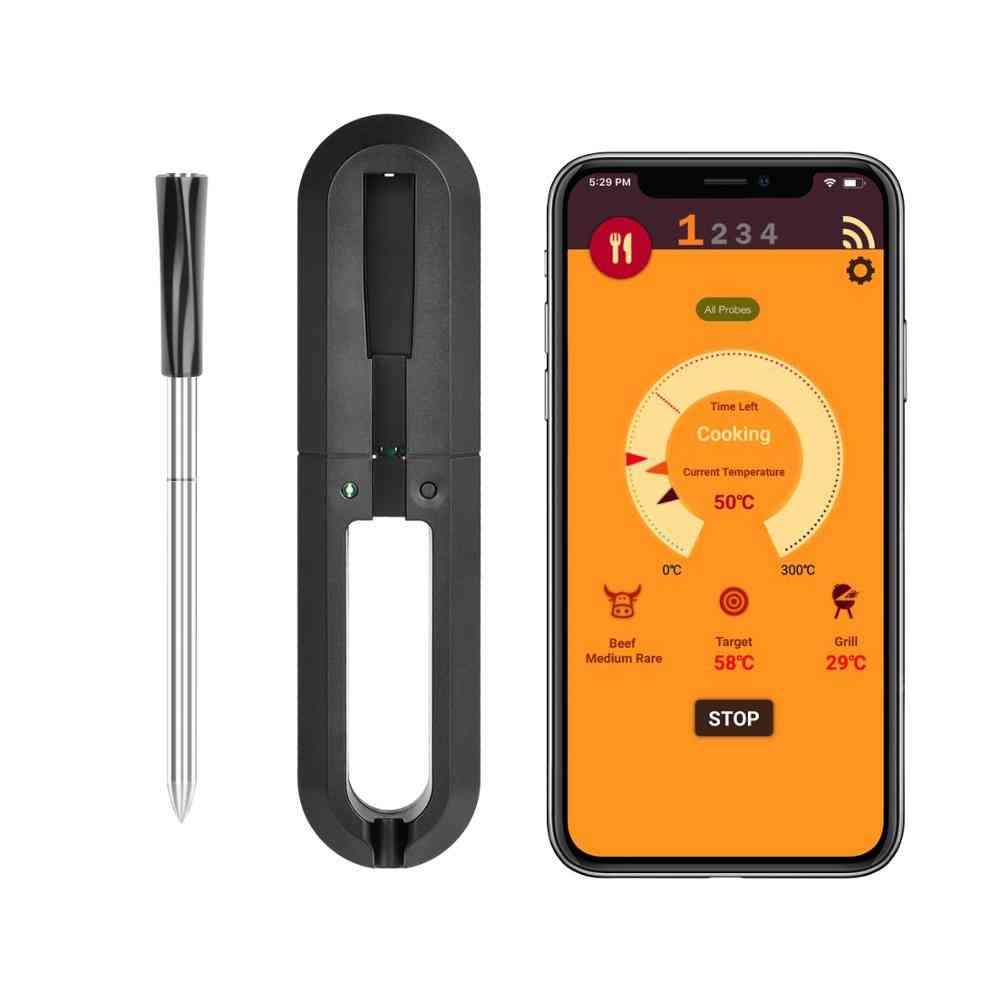 Waterproof Wireless Digital Meat Thermometer For Oven Grill Kitchen Bbq