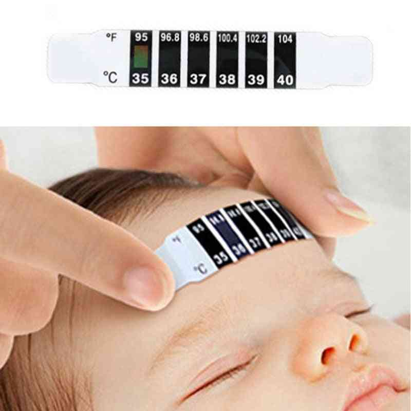 Lcd Strip, Abs Reusable Flexible Head Fever Forehead Thermometer