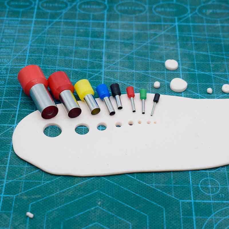 Mini Clay Cutters Earring Hole Hollow Round Make Pottery Tools Polymer Supplies Extruder