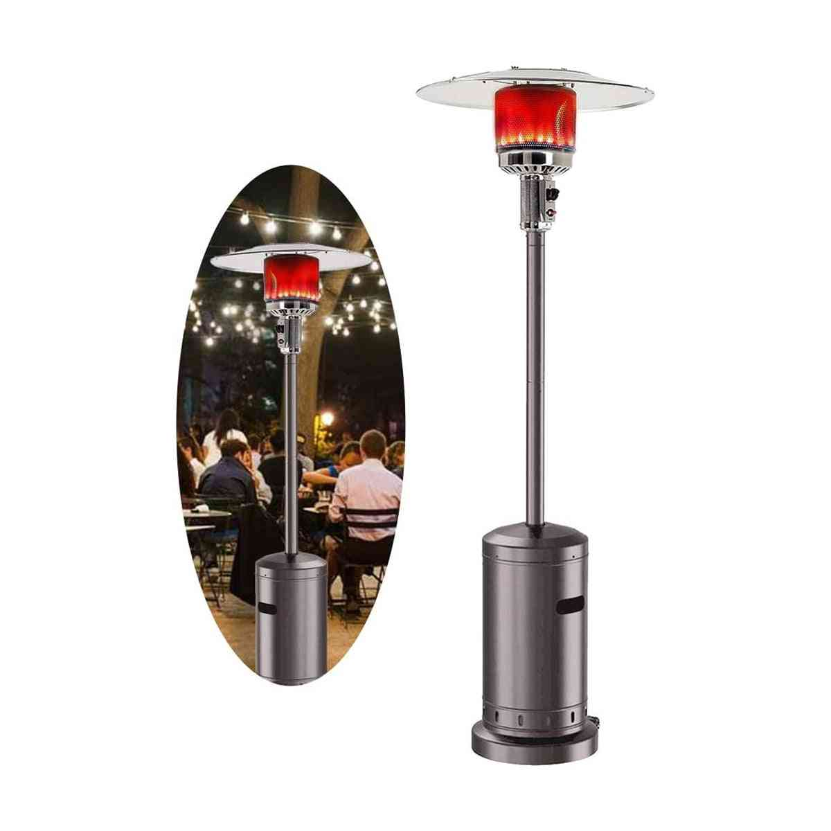 Liquid Propane Gas Powder Stove Floorstanding Umbrella Air Warmer For Garden Outdoor