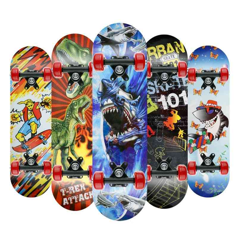 Disney Frozen- Skateboard Double-rocker, Teens Cartoons, Spiderman Longboard