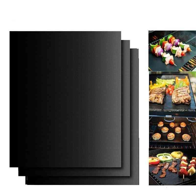 Reusable Bbq Grill Mat Portable Outdoor Picnic Cooking Non Stick Barbecue Oven Tool  Pad Baking Sheet