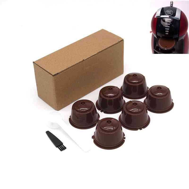 Reusable Coffee Capsule Filter Cup For Nespresso With Spoon Brush