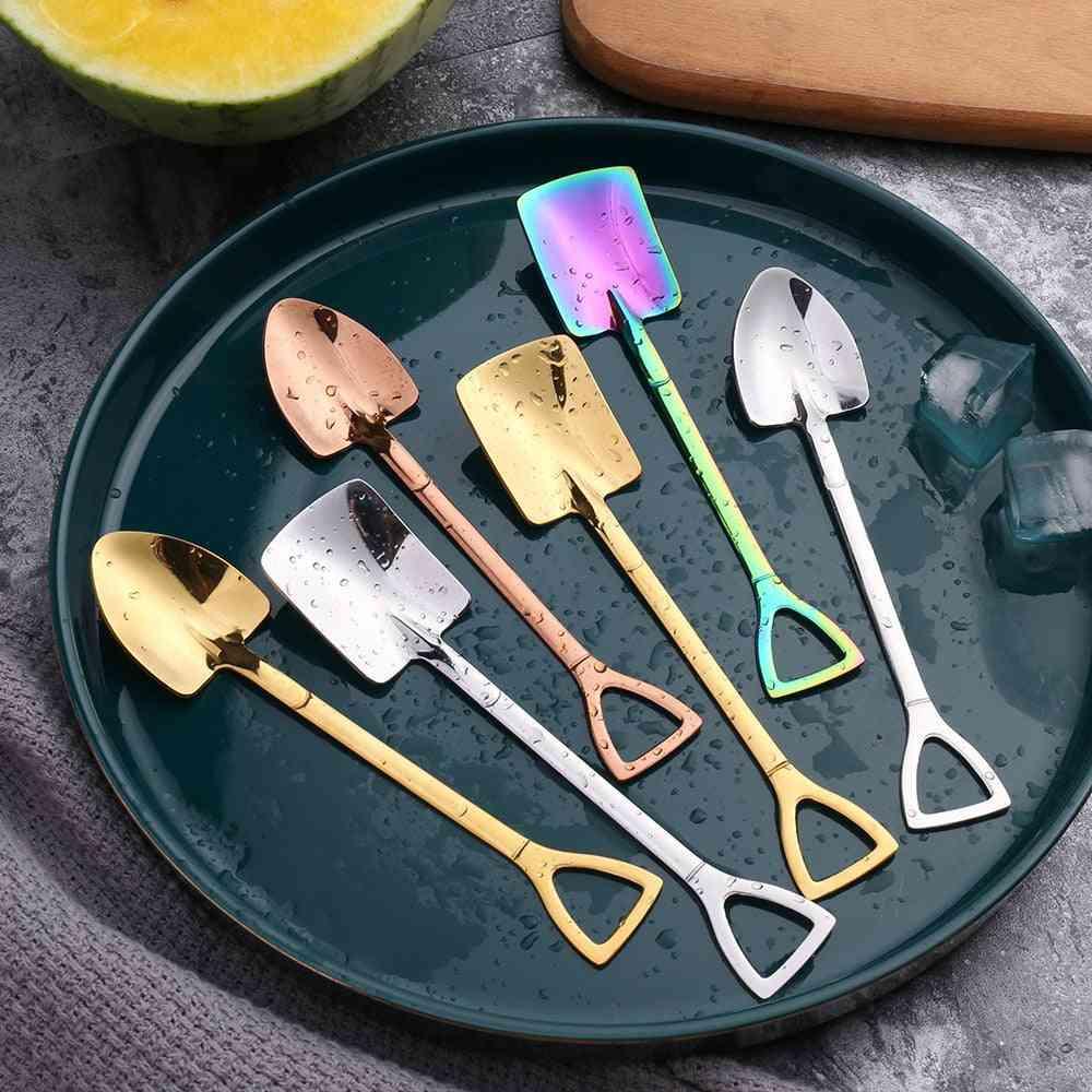 Coffee/ice Cream/dessert Spoon, Retro Cute Round Head Kitchen Gadget