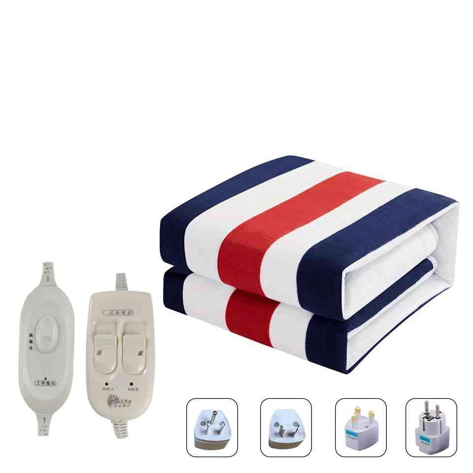 Electric Heated Blanket Double Control Small Printed Manta Electrica Bed Warmer Pad