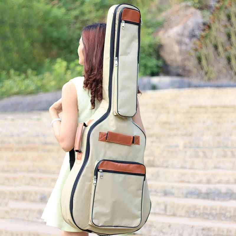 Double Shoulder Straps Padded Oxford Fabric Acoustic Guitar Bag / Case
