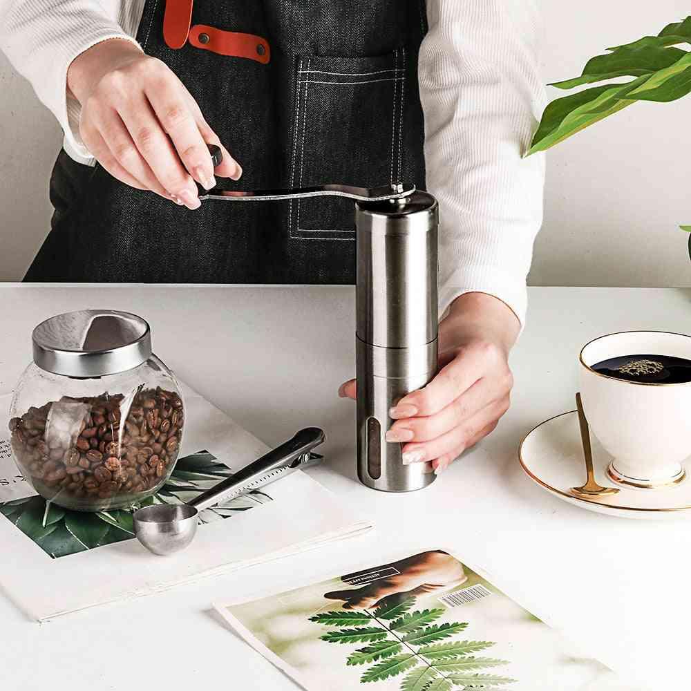 Mini Stainless Steel Hand Manual Coffee Bean Burr Grinders