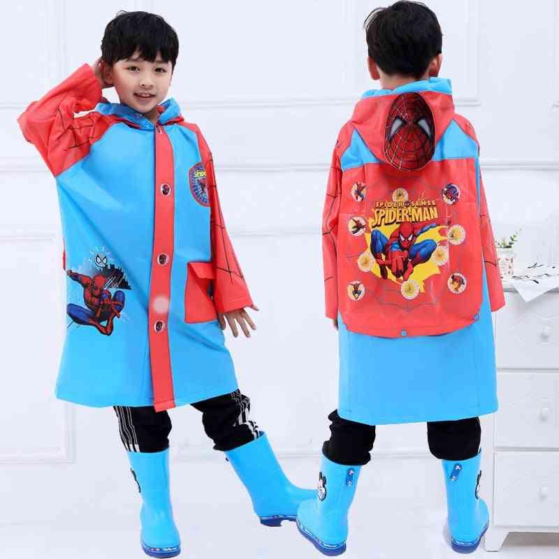 School Walk Travel Spiderman Raincoat
