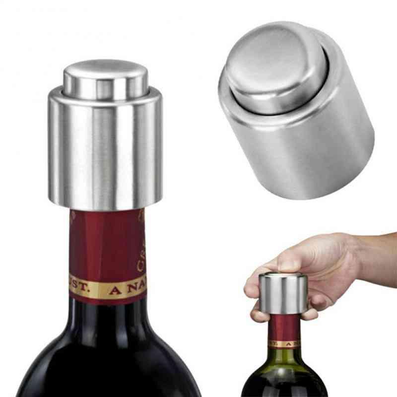 Stainless Steel- Champagne Sparkling, Wine Oil Sealer, Bottle Stopper