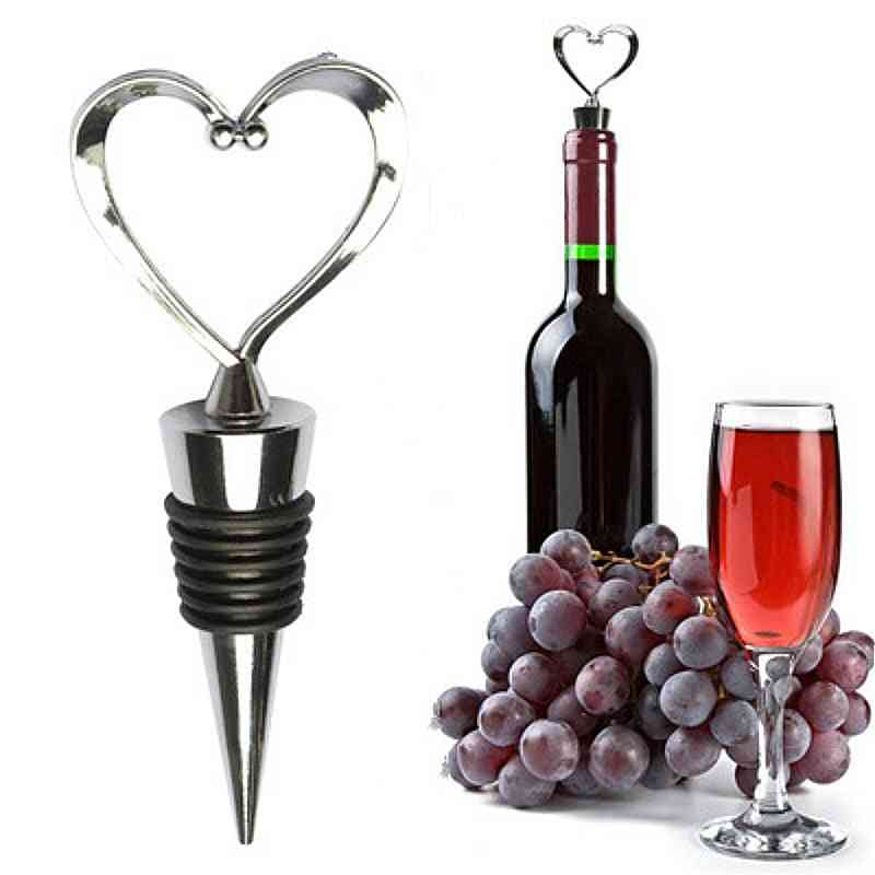 Heart Shaped- Red Wine, Champagne Bottle Stopper