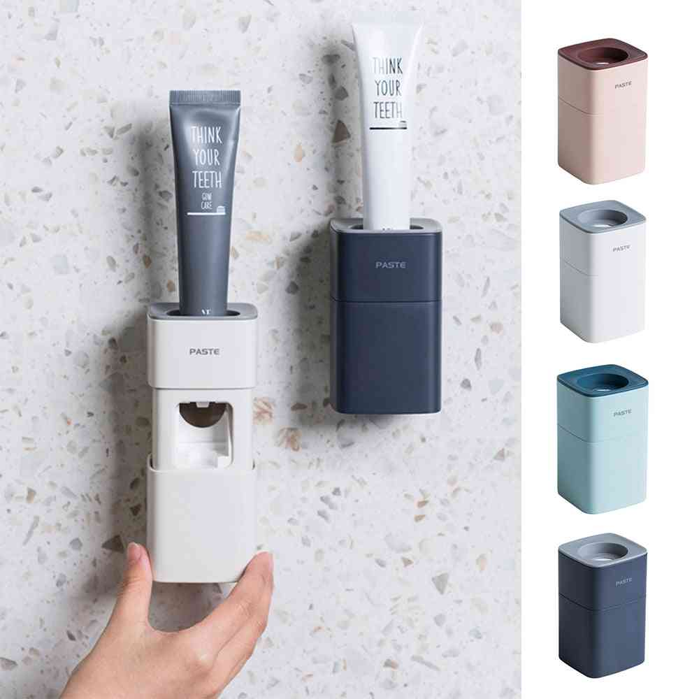 Automatic Dust-proof Toothbrush Holder, Toothpaste Dispenser