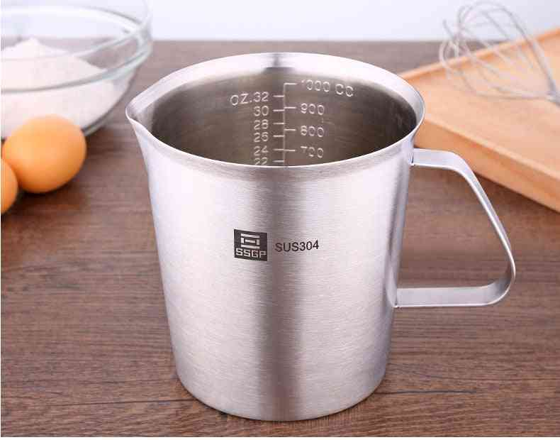 Thick Stainless Steel 304 Measuring Cup With Scale