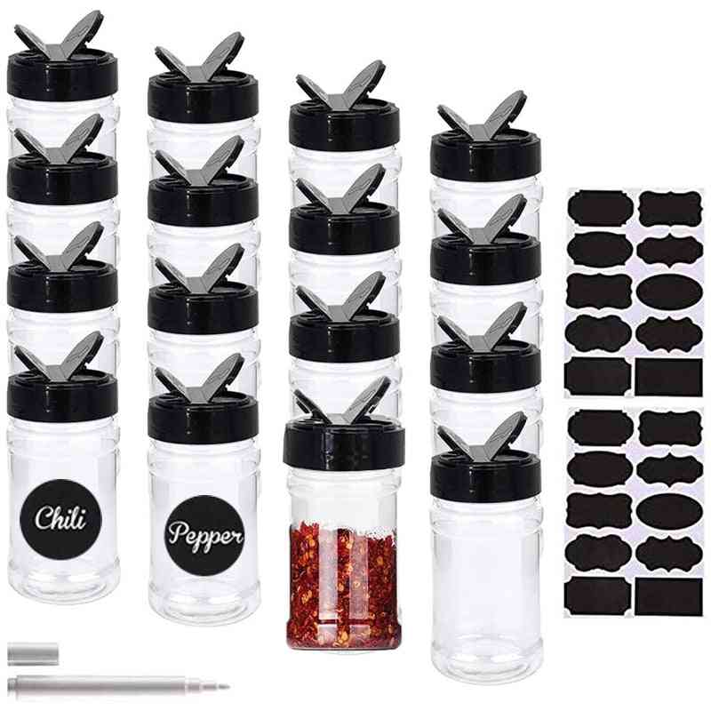 Salt And Pepper Shakers Spice Container Set